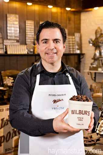 Joe Sofia, Head Chocolatier at Wilbur Chocolate in Litiz, PA.