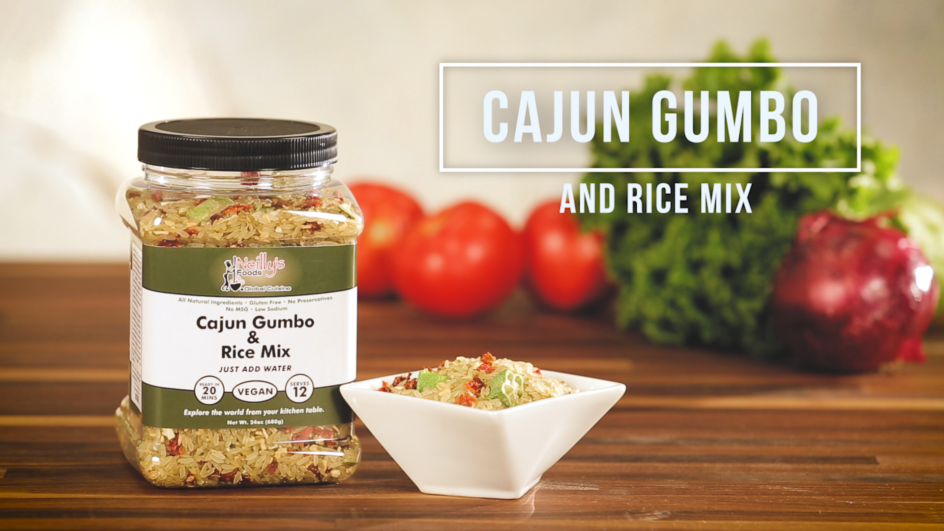 Neilly's Foods Global Cuisine Cajun Gumbo and Rice